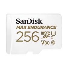 Sandisk MicroSD 256GB Max Endurance C10 100MB/s Lectura Tarjeta de memoria ct ES