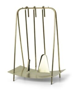 Ferm Living Brass Fireplace Tool Set
