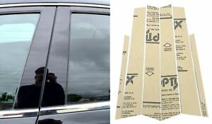 6 Pcs Door Trim Piano Cover Black Pillar Posts Fit 99-05 BMW 3 Series E46 4 Door