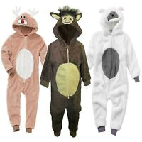 1Onesie Boys Girls Reindeer Christmas Nativity Fleece Fancy Dress Costume Outfit