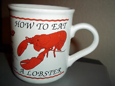 How to Eat a Lobster Coffee Cup Mug Cape Shore