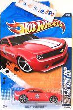 2011 Hot Wheels NIGHTBURNERZ #113 * CHEVY CAMARO 2010 INDY PACE CAR * RED REG CD