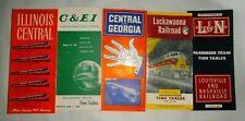 5 ASSORTED PASSENGER RAILROAD TIMETABLES