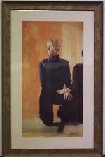 Bella stampa con cornice e vetro firmata raffigurante soggetto femminile print