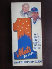 1989 New York Mets Official Information and Media Guide Excellent Condition