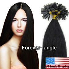 Pre Bonded Keratin Fusion Nail U Tip Remy Human Hair Extensions Straight USStock
