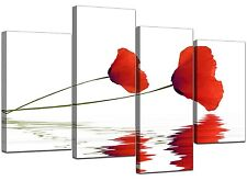 Extra Large Floral Flower Red Poppy Canvas Art 130cm Pictures XL 4029