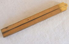 mètre dépliant bois et bronze style pied de roy Lufkin n°780 boxwood