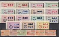 BY7123/ GERMANY – DDR – OFFICIAL – MI # C1 / C15 – V / X COMPLETE MINT