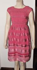 Max Studio Smocked Pleat Dress red new with tag with defect size XS RRP £50 #15