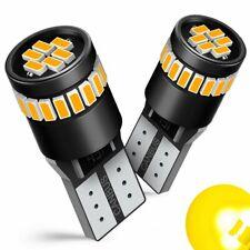 2x T10 2835 LED Car Amber Yellow Interior LED Side Marker Light Bulb 192 194 168