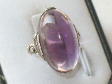 JUGENDSTIL 835er SILBER RING ovaler AMETHYST SUPER DESIGN ausgefallen um 1900