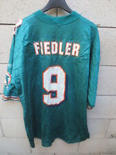 Maillot foot américain US MIAMI DOLPHINS Jay FIEDLER n°9 vintage shirt Reebok XL