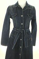 GUESS Denim Dress USA VINTAGE WOMEN'S Jacket Style  Blue Belted Western M $159