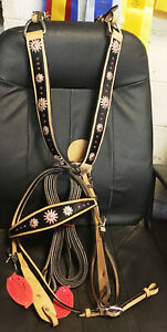 New Showman Bridle/Breast Collar Set Hair on Pink Bling Breastcollar Horse Tack