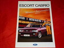 """FORD Escort Cabrio CLX + XR3i """"Michael Schuhmacher Edition"""" Prospekt von 1993"""