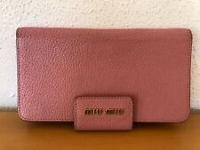 *** MIU MIU *** by PRADA iPhone Flap Case Madras Leder Pink Gold 8 Plus / 8 +