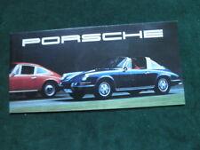 1969 Porsche Brochure Coupe Targa 911T 911 S 911E 912 Folds Out