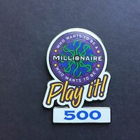 Who Wants to Be a Millionaire: Play it! Set 500 Points Disney Pin 4562