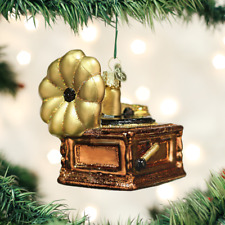 *Phonograph* Record Player [38049] Old World Christmas Glass Ornament - NEW