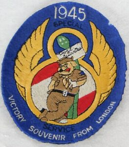 """WWII US Army Air Force 8th 467th Bomb Squadron Special Service Felt Patch 6.5"""""""