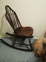 Vintage Rocking Chair Made in USA Phoenix Chair Company, For Child Or Sewing