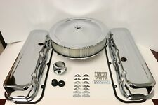 BB Chevy Chrome Engine Dress Up Kit Tall Valve Covers Air Cleaner 65-90 BBC 454
