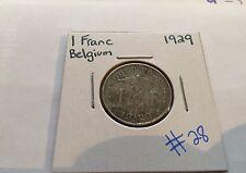1 Franc 1929 Belgium