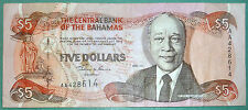 BAHAMAS, THE CENTRAL BANK 5 DOLLARS NOTE FROM 2001, P 63 b,