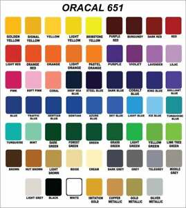 Oracal 651 Vinyl (Choose from 10) 30.5cm x 1.2m strong permanent - Silhouette
