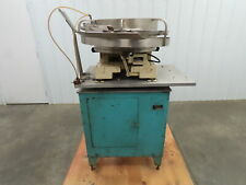Haumiller Engineering 24 Stainless Vibratory Bowl Parts Feeder On A Stand 110v