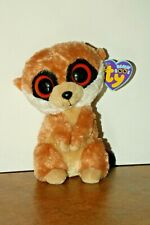 Ty Beanie Boo MeerKat named Rebel with Purple Tag