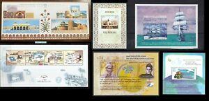 India 2004 Complete full set of 6 Minisheets Tarangini Taj Mahal Fort UN Peace