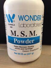 Wonder Laboratories M. S. M. Powder 8oz-Joint and cartilage health supplement