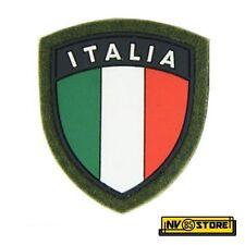 Patch Esercito Bandiera Italiana Scudetto ITALIA 6 x 7 Militare con Velcrogrip