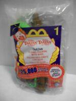 2000 McDonalds Happy Meal Toy TARZAN  #1 Swinging Figure / Trees NIB