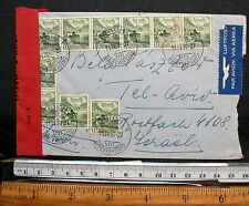 SWITZERLAND COVER ZURICH 1949 TO ISRAEL WITH CENSOR