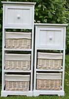 ***FOR AROUND THE HOUSE*** - 3 & 4 DRAWER WOOD & WICKER UNITS - FULLY ASSEMBLED
