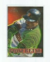 BARRY BONDS (San Francisco Giants) 1996 FLEER FLAIR POWERLINE INSERT CARD #2