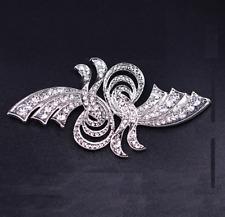 Vintage Style Rhinestone Crystal Wedding Bridal Butterfly Hook and Eye Clasp
