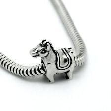 Argent antique poney charm cheval charme perles pour bracelets à breloques, animal charm