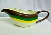 @AC-CH MADE IN CALIFORNIA VERNON KILNS MOJAVE POTTERY GRAVY BOAT / SAUCE PITCHER