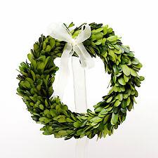 Preserved Boxwood Round Wreath - 8 Inch