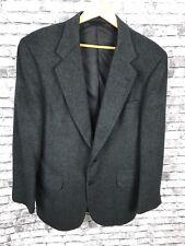 Club Room Macys Mens Store Camel Hair Blazer Sport Coat Size 41R Black 2 Button