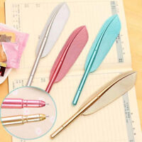 Colorful Feather Gel Pens Office School Student Writing Stationery Birthday Gift