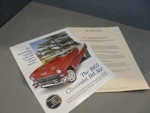 BROCHURE ONLY(NO CAR)-1/16-DANBURY MINT-1955 CHEVROLET CHEVY BEL AIR COUPE