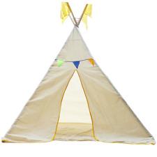 Tee Pee Tent Outdoor Indoor Kids Pretend Play Cotton LARGE Children Teepee NEW