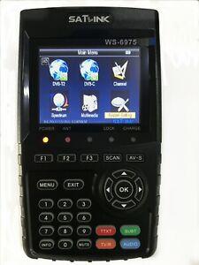 SATLINK WS-6975 DVB-T2/C Digital Terrestrial Meter Finder MPEG2/MPEG4,H.265 QPSK