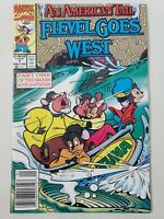 AN AMERICAN TAIL: FIEVEL GOES WEST #1 (1992) MARVEL COMICS NEWSSTAND VARIANT HTF
