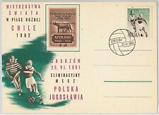 OLYMPIC GAMES sport FOOTBALL -  POSTAL HISTORY - POLAND: special POSTCARD 1961